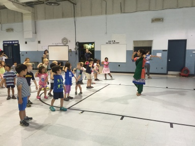 Ananya Kar's demonstration of Indian dance and engagement with pre-school students at Go Like the Wind Montessori School in Ann Arbor, MI